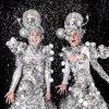 silver stilts
