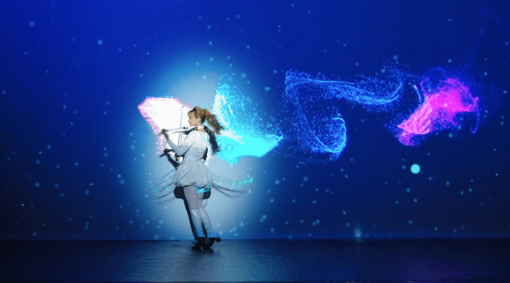Video Mapping Violinist