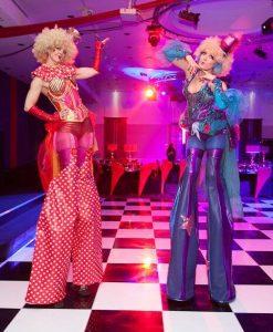 stilt performers