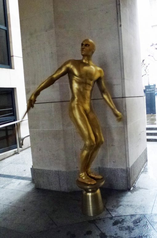 Gold Living Statue