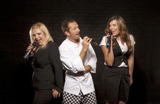 Surprise Singing Waiters