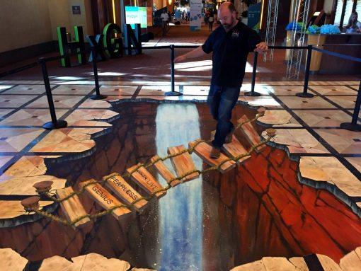 3d street art california