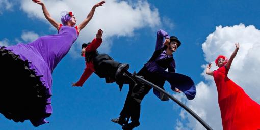 unique pole performers