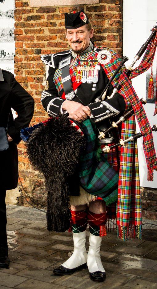 Traditional Scottish Bagpiper