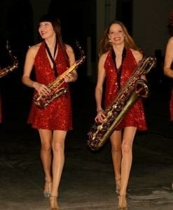 female sax group