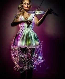 led and laser violinist