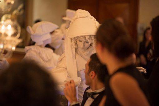 White Living Statues
