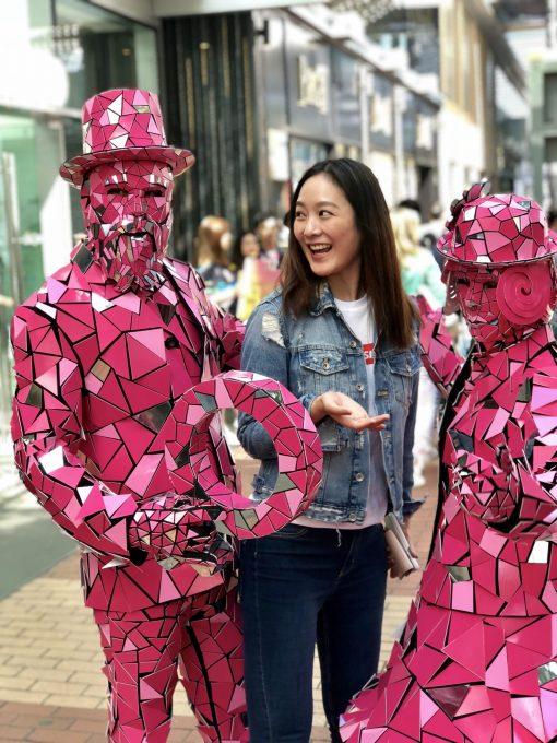 Pink Mirror People